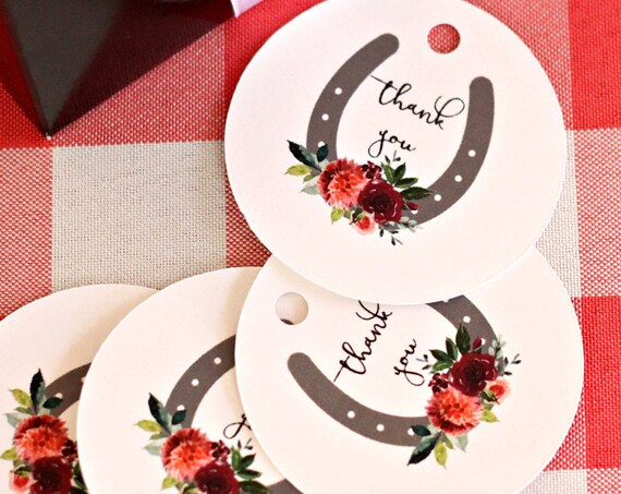 Kentucky Derby Party Favor Tags, Bridal Shower Favors, Baby Shower Tags