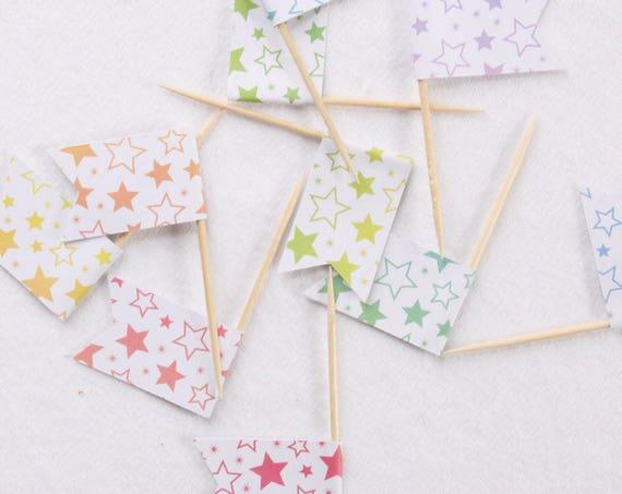 Rainbow Baby Sprinkle, Rainbow Baby Shower Cupcake Toppers, Rainbow Confetti