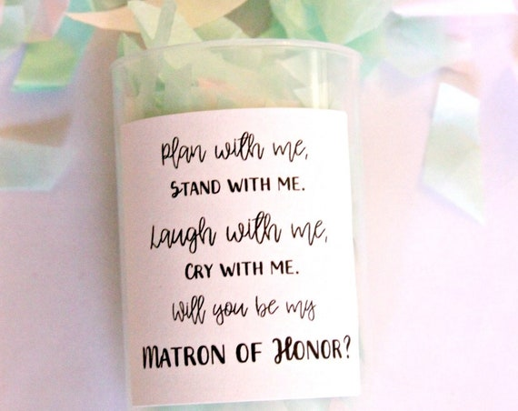 Bridesmaid Poppers, MOH Proposal, Will You Be My Maid of Honor, Stand With Me Poppers, Flower Girl Confetti Poppers