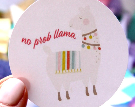 Llama Party No Prob Llama Stickers, Llama Sticker, Llama Baby Shower