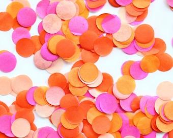 Pink & Orange Confetti