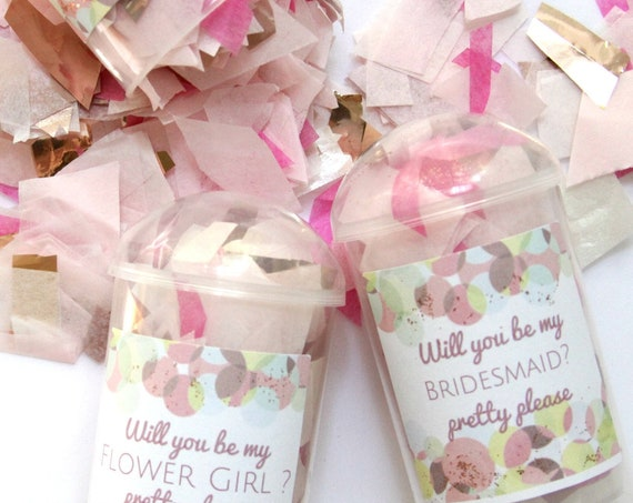 Bridesmaid Proposal Poppers, MOH Proposal, Will You Be My Maid of Honor, Flower Girl Confetti Poppers, Ring Bearer Proposal, Bridesmaid Box