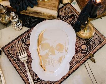 Skull Cake Plates