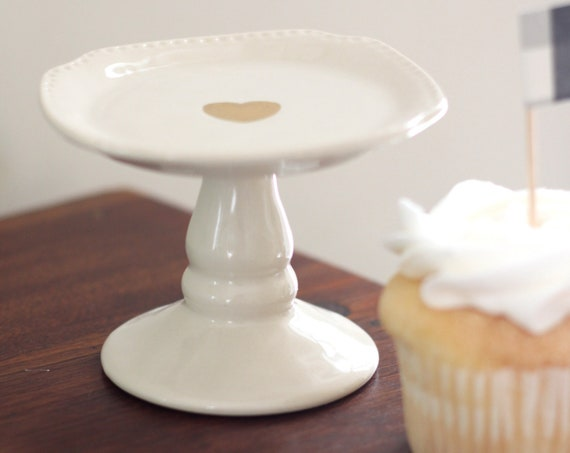 Cupcake Stand, Rustic Wedding Mini Cake Stand, Pastry Stand, Galentine's Day, Valentine's Day