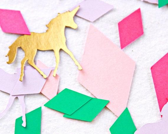 Unicorn Confetti, Unicorn Birthday Party Supplies