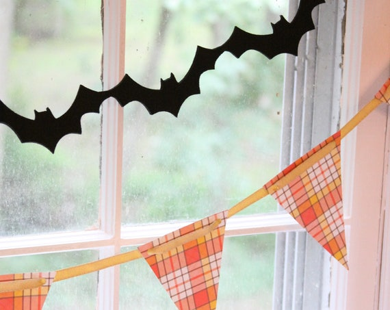 Halloween Garland, Bat Felt Garland, Haunted House Party Decorations, Wedding Theme, Bat Halloween Decor, Kids Halloween Ideas