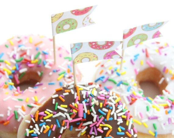 Donut Party Cupcake Toppers, Donut Baby Sprinkle, Donut Grow Up,  Doughnut Toppers, Donut First Birthday, Donut Party Supplies, Baby Shower