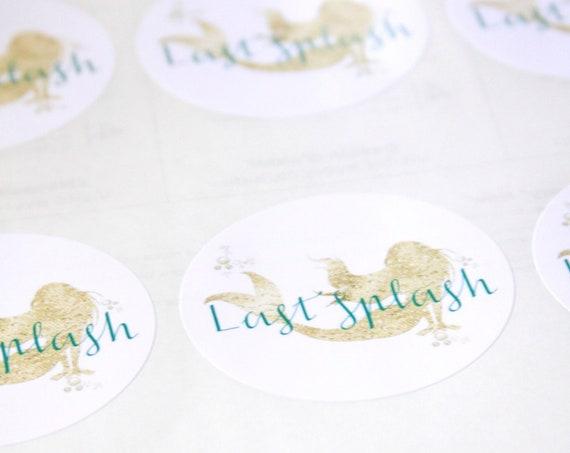 Last Splash Bachelorette Party Stickers, Mermaid Bachelorette Party Labels