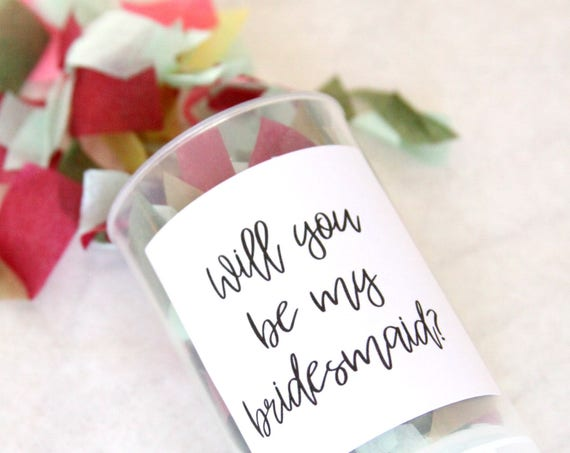 Maid of Honor Proposal, Will You Be My Bridesmaid Confetti Poppers, Ask Bridesmaids
