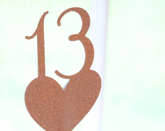 Rose Gold Centerpiece Picks, Rose Gold Wedding Table Numbers, Rose Gold Party Decorations, Custom Options, Silver, Gold, Copper Centerpiece