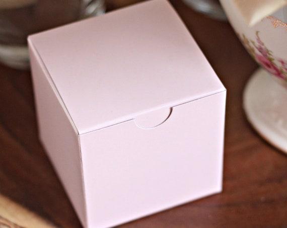 Blush Bridal Shower Favor Boxes, Wedding Favor Box, Pink Baby Shower Gift Packaging, Bridesmaid Gift Box