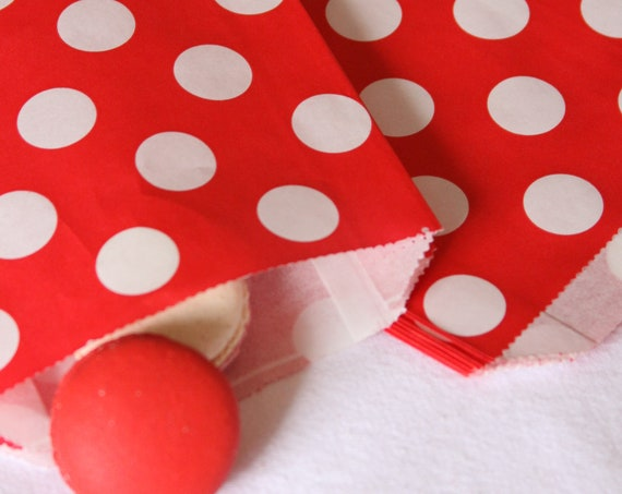 Baby Q Favors,  Red Polka Dot Treat Bags, I Do BBQ Cutlery Bag, Advent Calendar Bags,