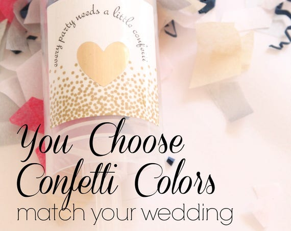 Wedding Confetti Pop Favors, Push Up Confetti Poppers, Wedding Confetti Pop, Wedding Send Off Ideas