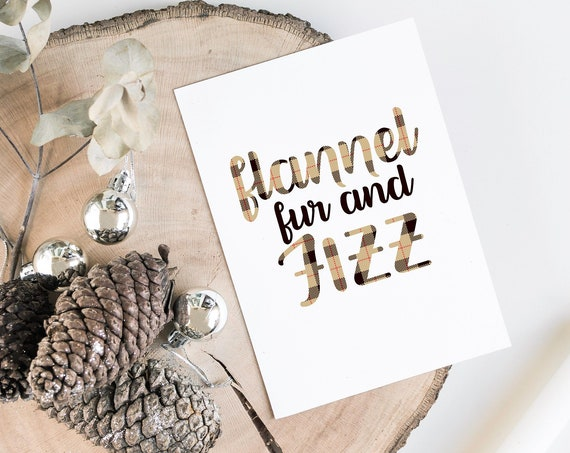 Flannel Fur and Fizz Printable, Flannel Party, Hot Cocoa Bar Sign