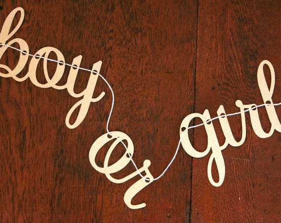 Boy or Girl Banner, Gender Reveal Banner Perfect for a Christmas Gender Reveal Party