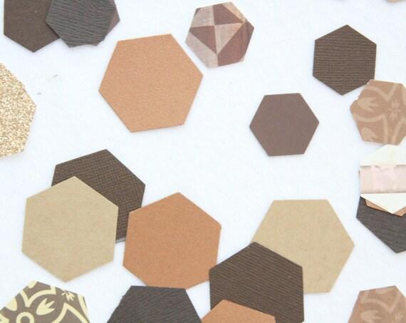 Rustic Wedding Copper and Wood Confetti