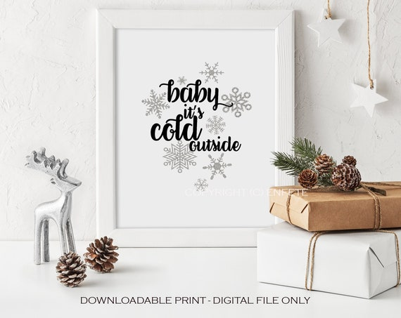 Baby Its Cold Outside Sign, Hot Chocolate Bar Printable, Winter Wedding