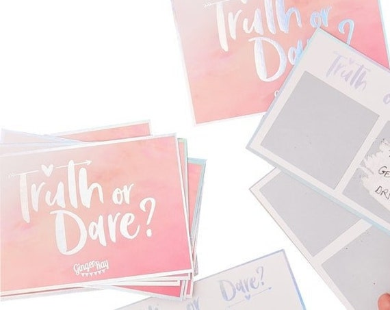 Bridal Shower Games - Truth or Dare Scratch Cards