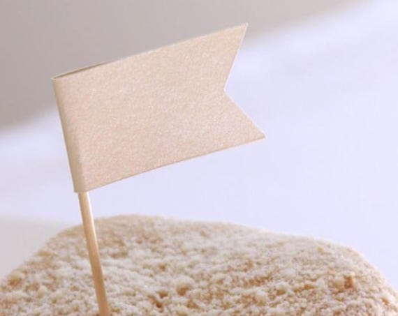 Champagne Cupcake Topper, Afternoon Tea Party Baby Shower, Ivory Bridal Shower