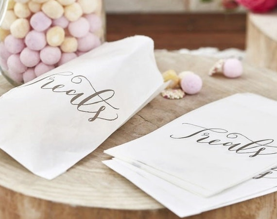 Candy Bags, Snack Bags, Treats Bags, Wedding Donut Wall