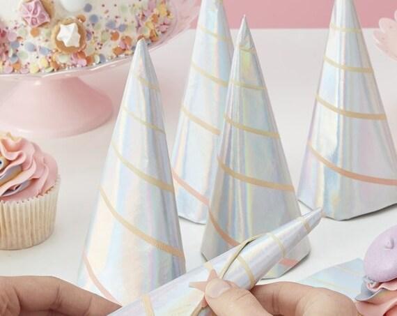 Unicorn Party Napkins, Unicorn Horn, Magical Princess Party