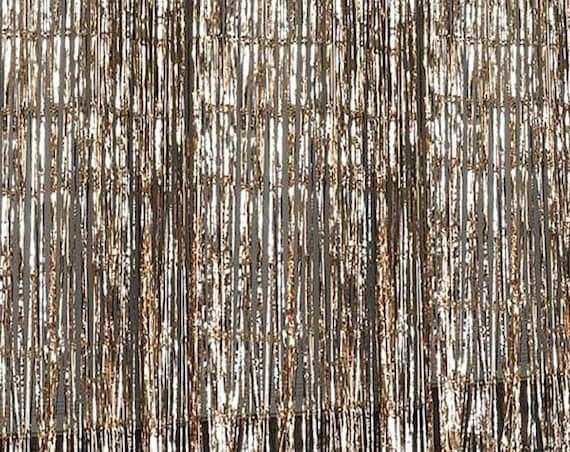 Gold Fringe Photo Booth Backdrop, Streamer Backdrop for Bridal Shower, Baby Shower or Wedding Decor