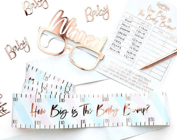 Baby Shower Games, How Big is the Baby Bump