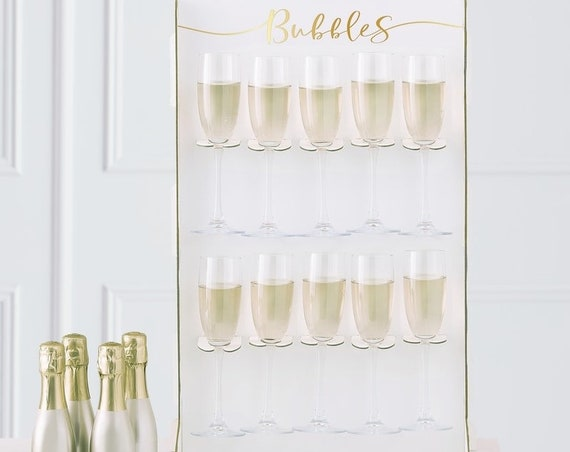 Prosecco Wall Stand, Champagne Wall, Wedding Toast
