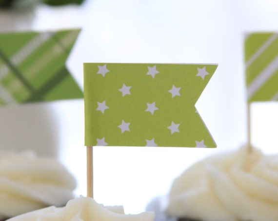 Christmas Cupcake Toppers, Christmas Baking, Bright Colored, Little Star Party, Lime Green, Easter Party Decor