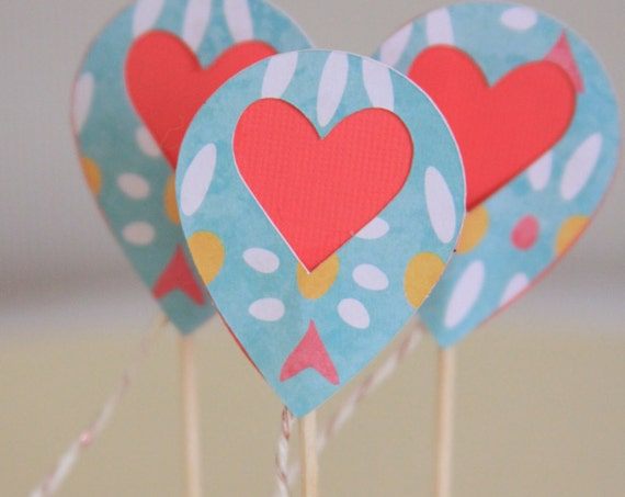 Sip and See Cupcake Toppers, Heart Balloon Tail, Gender Reveal Baby Shower, Just to Say I Love You, Valentine's Day Classroom Party