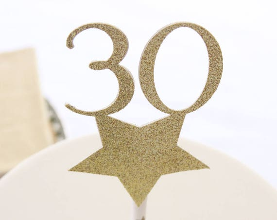 30th Birthday Cake Topper, Turning 30 Party, Talk Thirty to Me