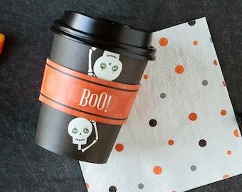 Halloween Coffee Cups - BOO!