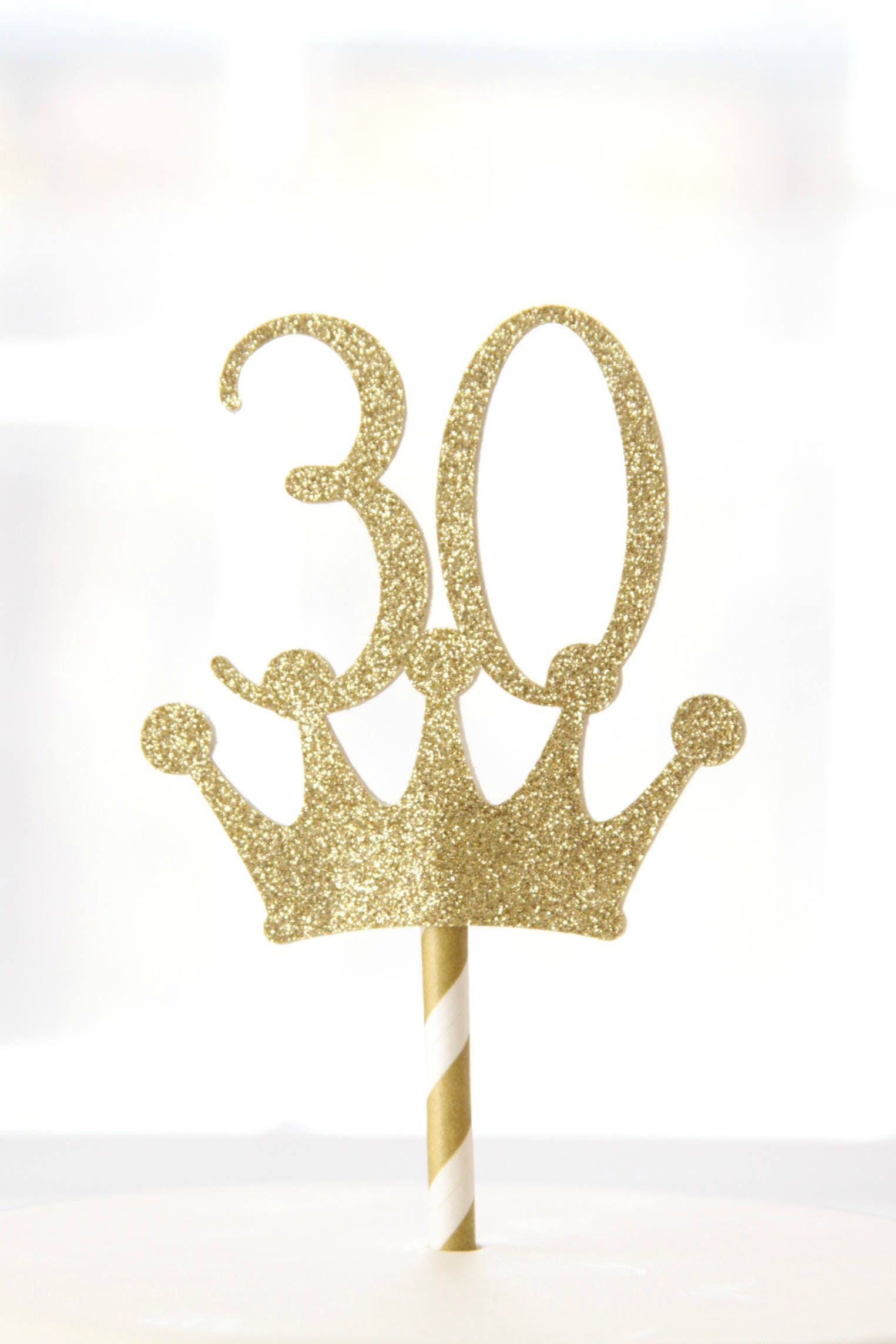30th Birthday Crown Topper Adult Cake Smash For Her Rose Gold Glitter Princess 30 Hello Thirty