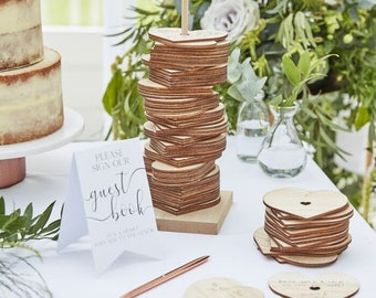 Alternative Guest Book -  Stacking Hearts