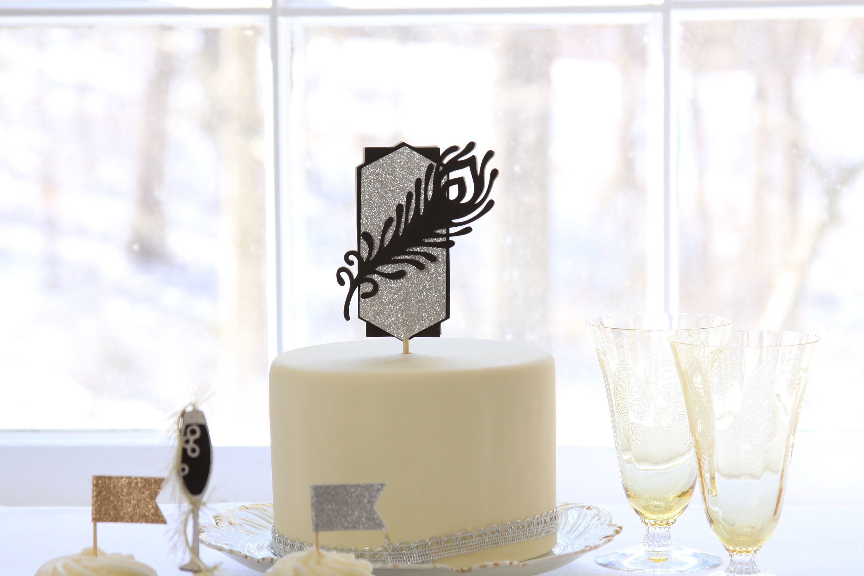 Gatsby Topper, Great Gatsby Party, Party Like Gatsby Cake Topper ...