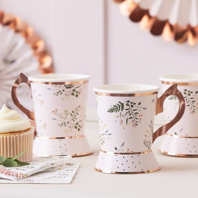 Botanical Happy Birthday Tea Party Napkins