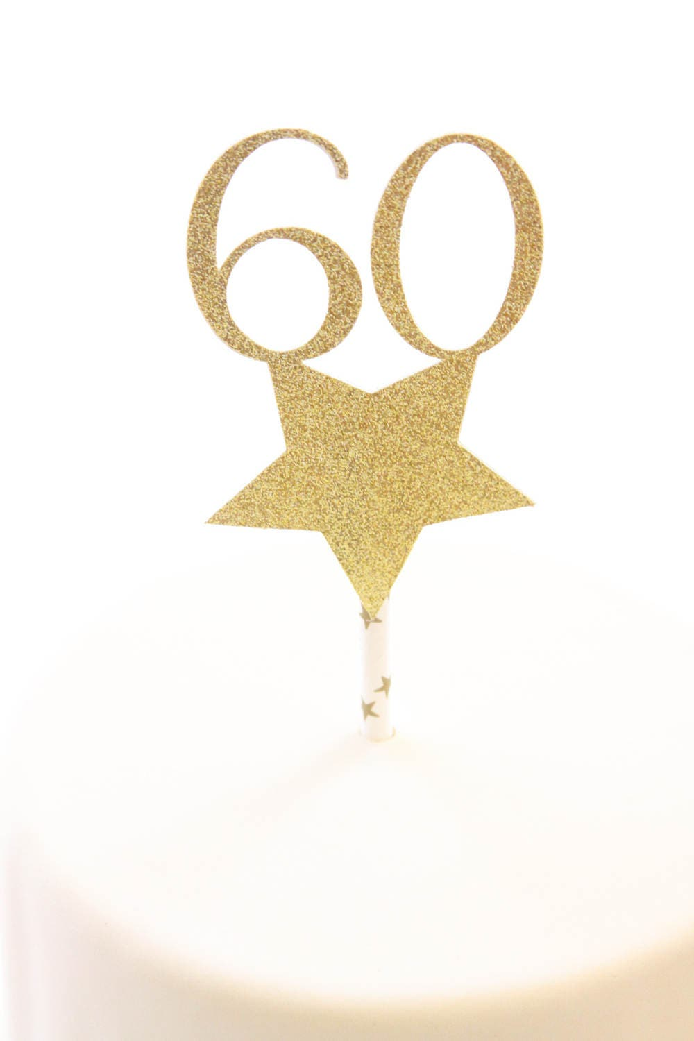 60th Birthday Cake Topper Turning 60 Anniversary Party Decorations Decor Gold Glitter Born In 1957