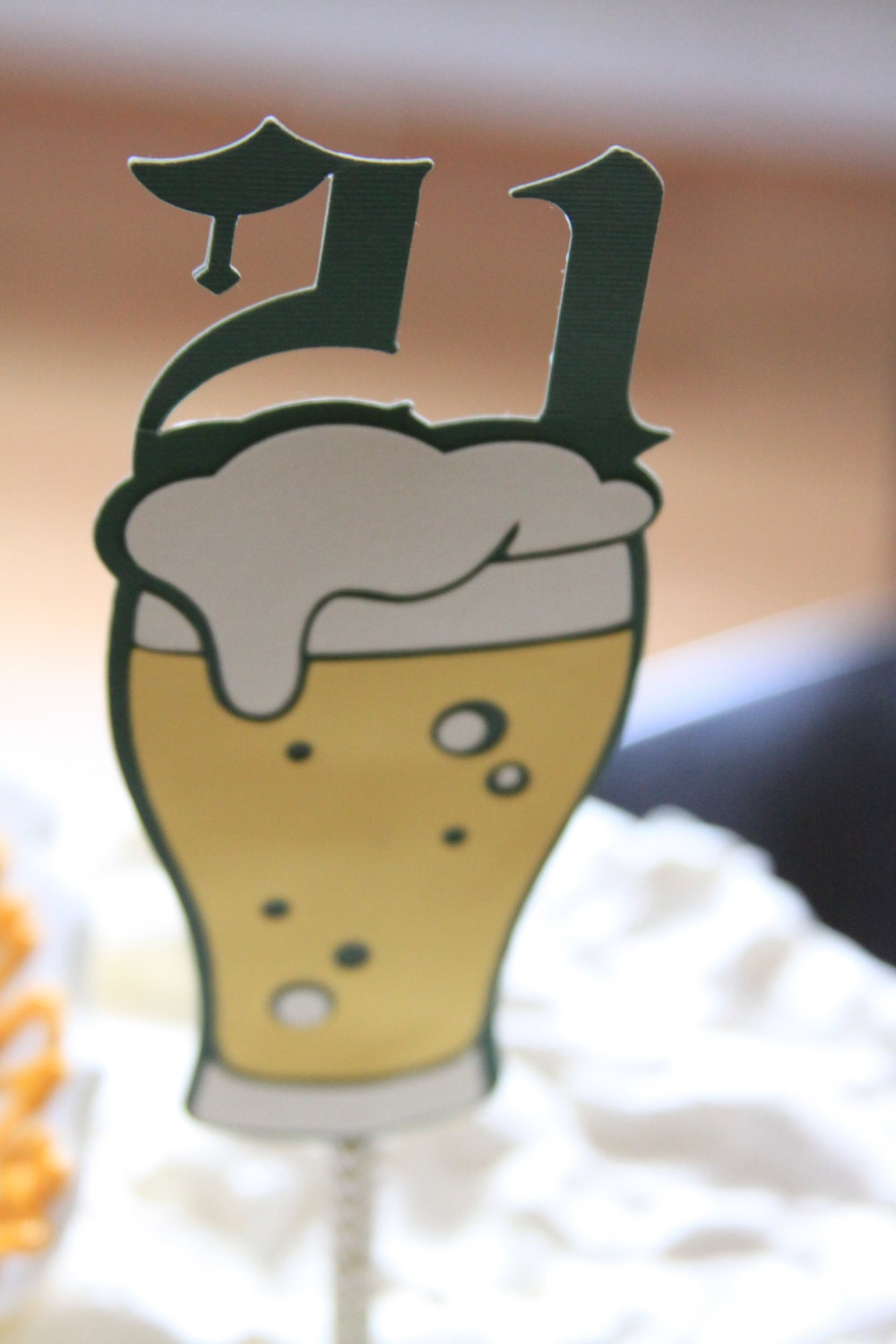 21st Birthday Cake Topper Beer For Him 21 Guys Themed Party Alcohol Oktoberfest Style