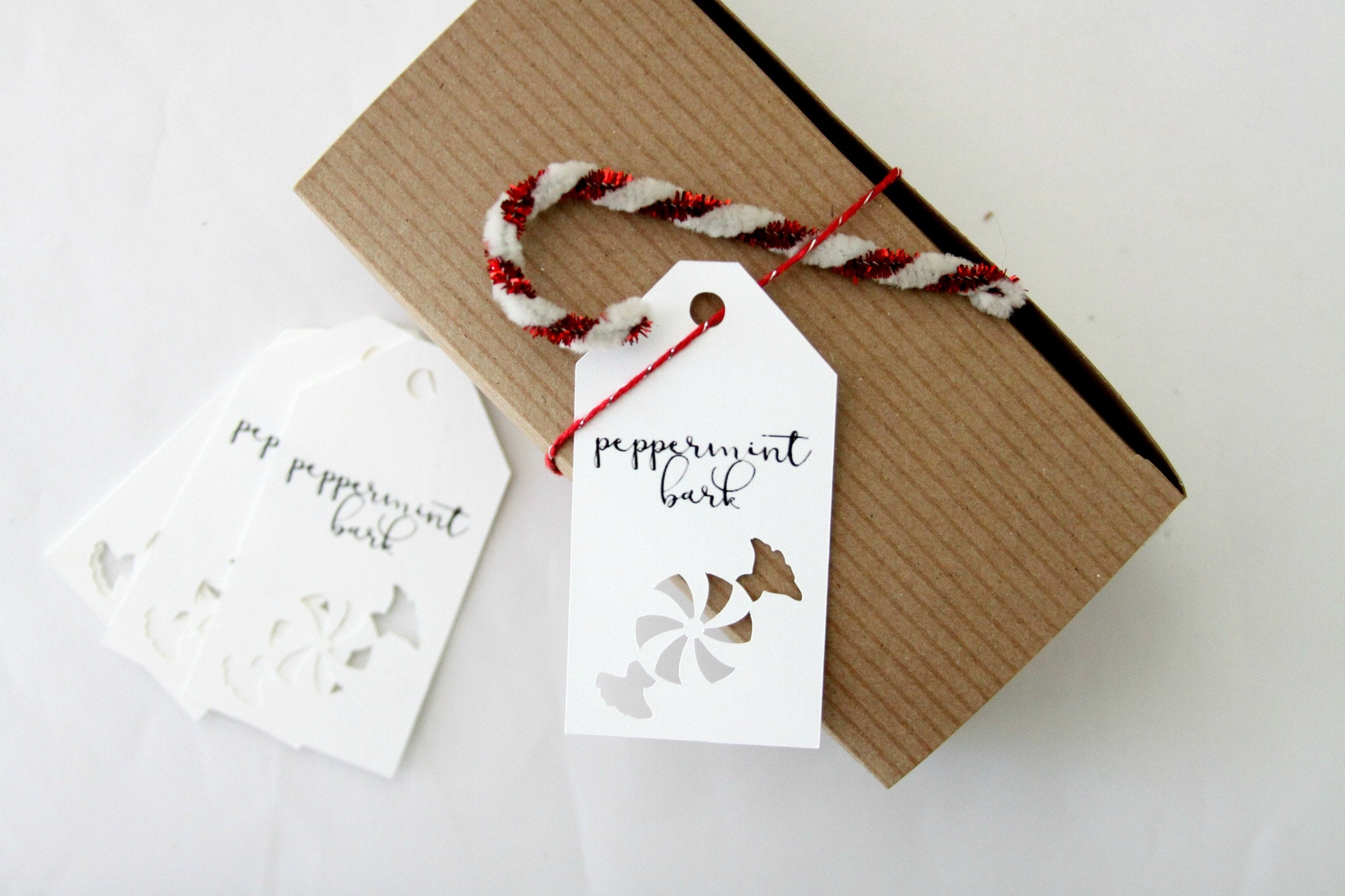 Peppermint Bark Tag Winter Wedding Favor Ideas Homemade Christmas