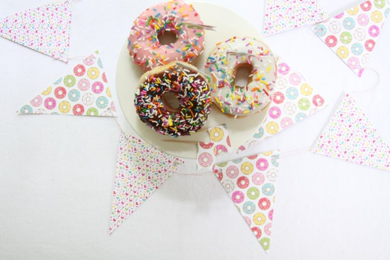 Donut Grow Up Banner, Baby Sprinkle Garland, Donut Party Supplies, Donut Topper, Doughnut Garland, Donut First Birthday, Donut Wall