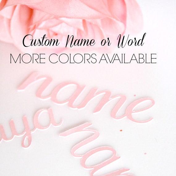 Custom Name Confetti, Word Confetti, Baby Shower Confetti, Wedding, Baby Name Confetti, Personalized Bridesmaid Gift