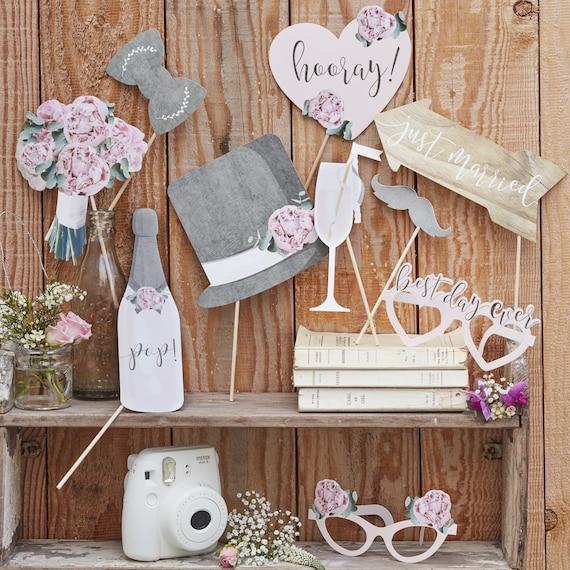 Wedding Photo Props,  Instagram Props, Wedding Photo Booth Cutouts, Wedding Reception Ideas