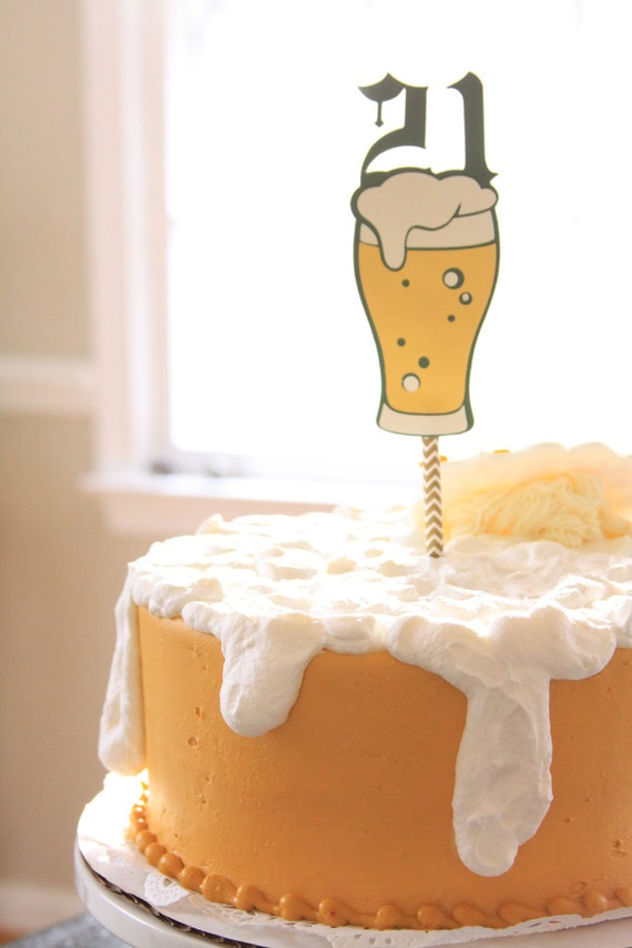 21st Birthday Cake Topper Beer For Him 21