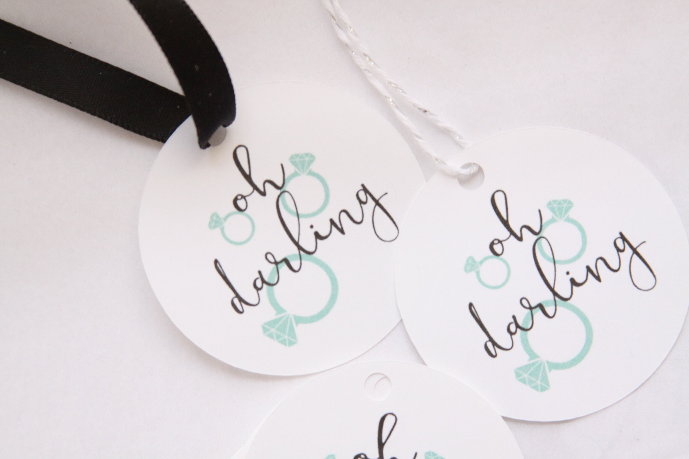 Oh Darling Bridal Shower Favor Tags, Engagement Party Favors, Thank ...