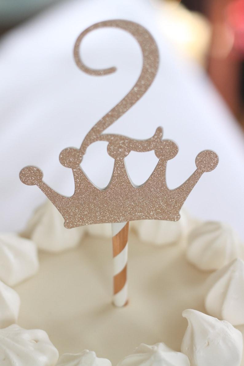 2 Crown Cake Topper
