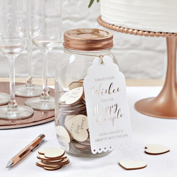 Wishing Jar Alternative Guest Book Wedding Reception Ideas Etsy