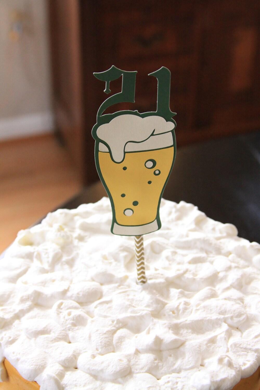 21st Birthday Cake Topper Beer For Him 21