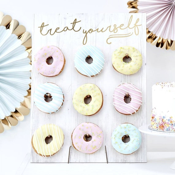 Bridal Shower Donut Wall Stands, Donut Grow Up Party, Rustic Wedding Decor