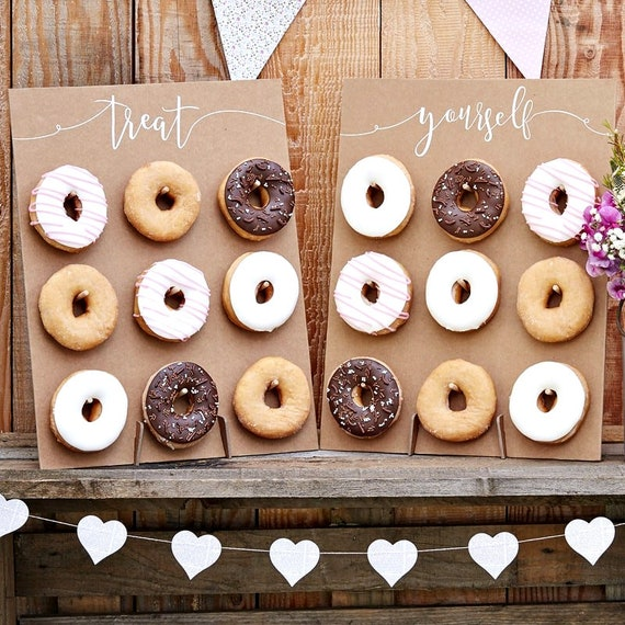 Donut Wall Stands, Donut Grow Up Party, Rustic Lumberjack Party