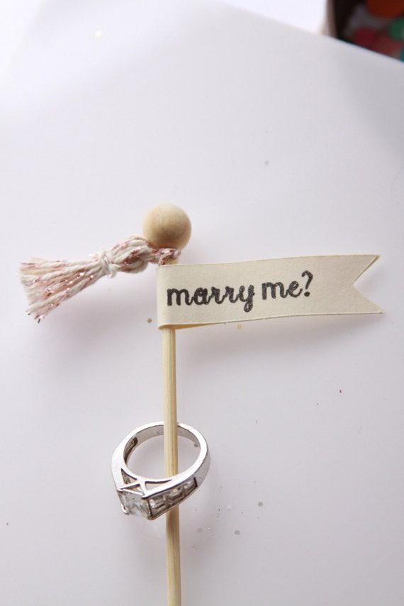 Marry Me, Surprise Her,  Proposal Idea, Cupcake or Tiny Cake Topper, Engagement Ideas, Unique Proposal, Valentine for Her, Put a Ring on It